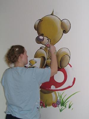 Deco gala muurschildering muurschilderingen kinderkamer kinderkamers wantschilderingen - Deco muurschildering ...