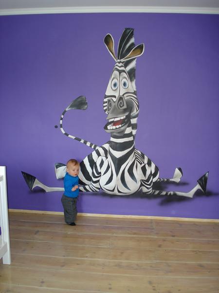 Marty zebra - Deco muurschildering ...
